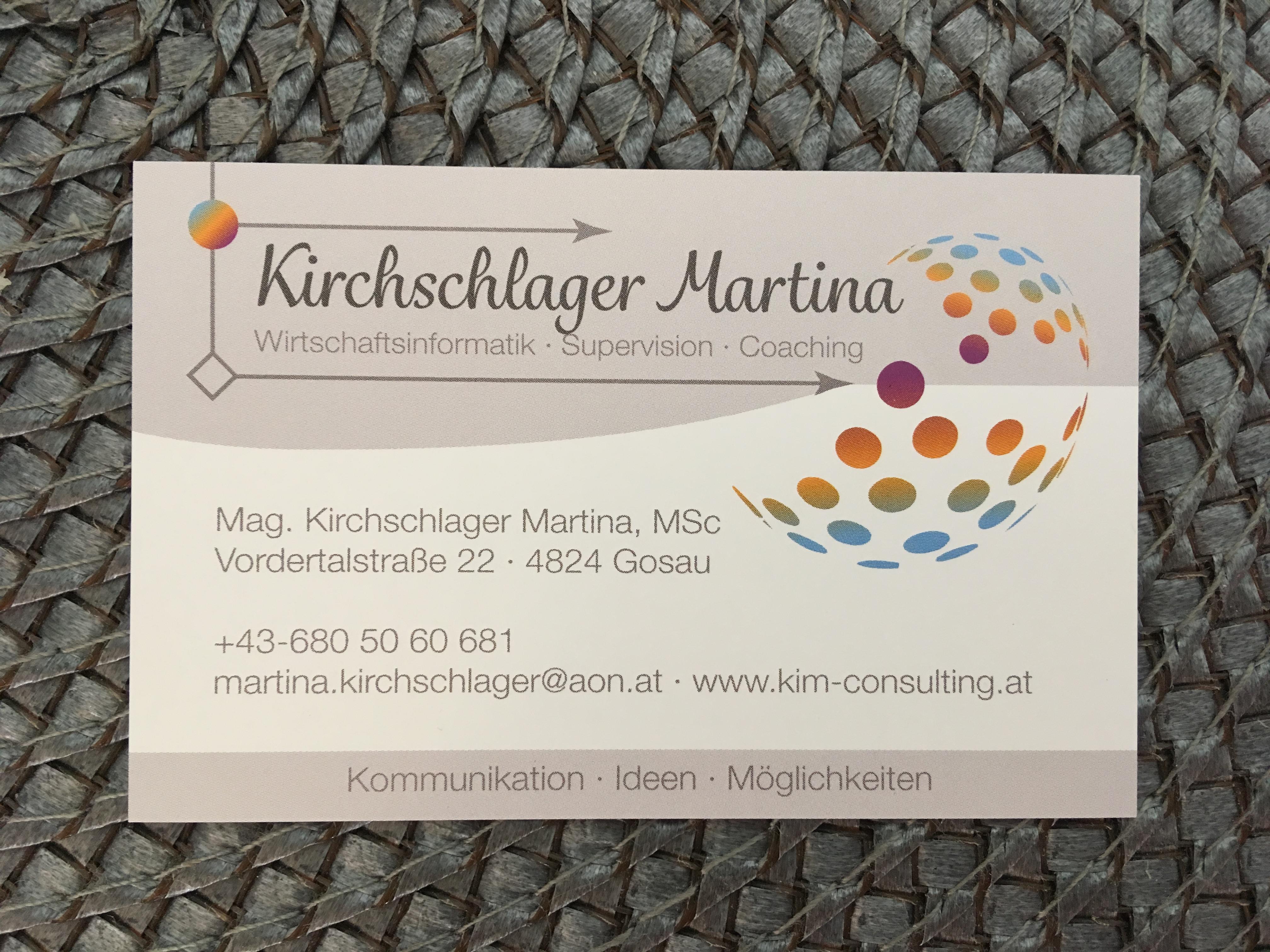Foto Visitenkarte Mag Martina Kirchschlager Msc